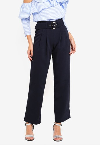 bYSI navy Pleated Peg Leg Trouser 40D86AA250B89FGS_1