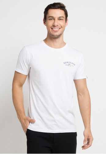 Quiksilver white Simple Colour T-Shirt 76D92AAF3F670DGS_1