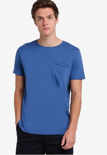 MANGO Man blue Slub-Cotton T-Shirt MA449AA09AYWMY_1