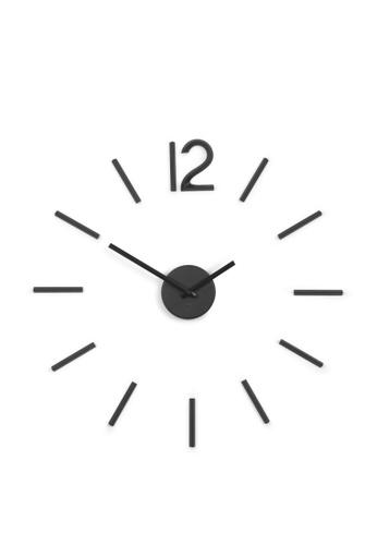 Umbra black Blink Modern DIY 3D Wall Clock 8D9C6HL33D2E2BGS_1