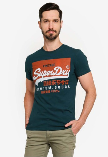 Superdry green Vintage Label Round Neck Tee B5A11AA3ADE041GS_1