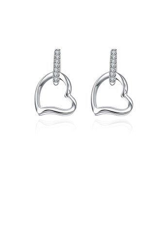 Glamorousky white Fashion Elegant Hollow Heart Earrings with Cubic Zircon 6DEB3ACAA2D9BAGS_1