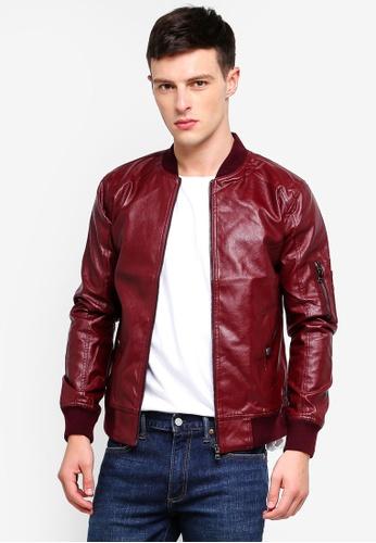 High Cultured 紅色 質感夾克 54B27AA2052EB0GS_1