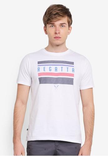 REGATTA white Graphic Printed T-Shirt RE699AA0SN2EMY_1