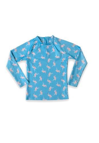 August Society blue Waikiki Kid's Rash Guard - Flamingo 542DAKAFEB7DC1GS_1