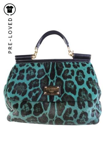 Dolce & Gabbana green Pre-Loved dolce & gabbana Sicily Pony Hair Leopard Bag In Green 0E2F9ACB675242GS_1