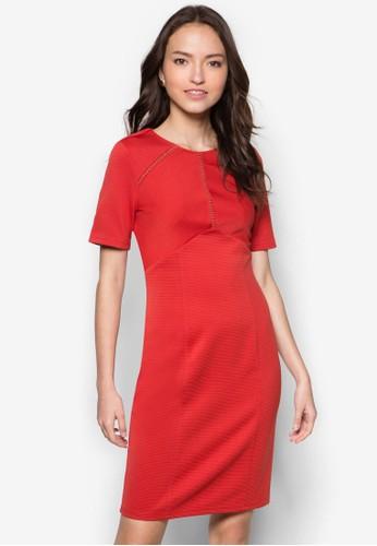 zalora 內衣及膝鏤空連身裙, 服飾, 服飾