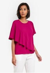 WAREHOUSE pink Ruffle Blouse WA653AA0S7DBMY_1