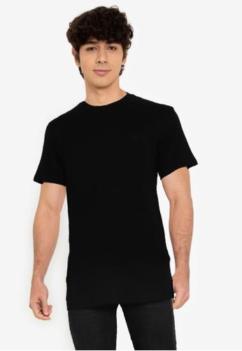 Springfield black Basic T-Shirt C5EF5AA34A57CDGS_1