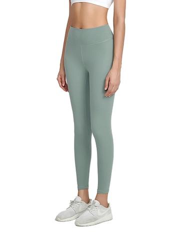 B-Code green ZWG1115c-Lady Quick Drying Running Fitness Yoga Leggings-Green F01FFAA60555F8GS_1