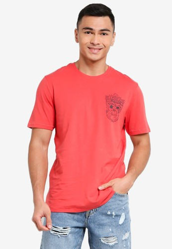 Only & Sons red Dexter Life Tee F0C1AAAE555EB6GS_1