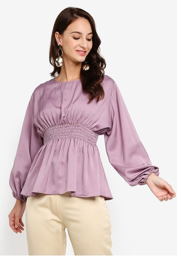 Iris Peplum Blouse from Fazboka in Purple