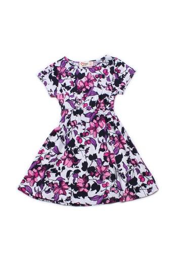 Mini Moley white Floral Print Girl's Skater Dress 696D3KA53349BBGS_1