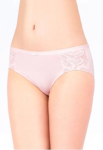 Triumph pink Triumph Aqua Exotic Hipster Panty (Pearl) DDA04USDD9FAA9GS_1