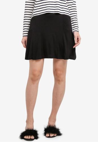 Miss Selfridge 黑色 Black Flippy Skirt 04405AA779A209GS_1