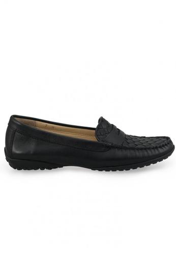Shu Talk black Nappa Breathable Loafer SH397SH0FPIPSG_1