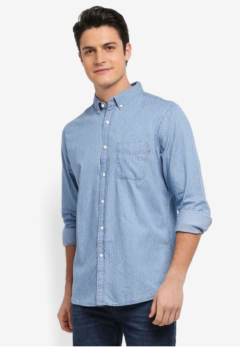 Cotton On blue Brunswick Shirt D5436AA4C08DF7GS_1