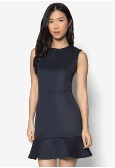 Collection Ruffle Hem Bodycon Dress
