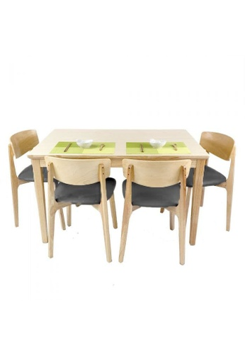 Born In Colour Shizen Japandi Natural 4 Seater Dining Set B 1250 (Table & 4 chairs) E39BAHL56AAD9EGS_1