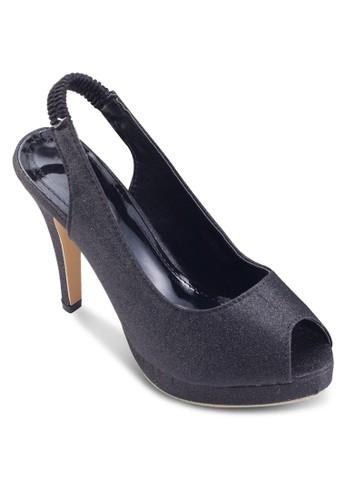 閃飾露趾彈性繞踝高跟鞋, 女鞋, esprit香港分店鞋