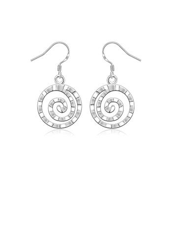 Glamorousky silver Simple Round Earrings B3B37ACAF073EEGS_1