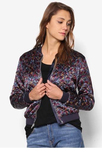 碎花菱格紋棒zalora時尚購物網的koumi koumi球外套, 服飾, 棒球外套