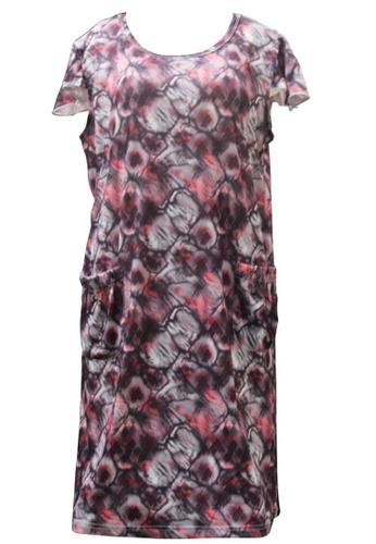 Modernform International red Abstract Pattern Silk Satin Sleepwear (P0741A) 7A073AA4CFD0E7GS_1