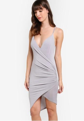裹式懸墜裙擺迷你背心裙, 服esprit女裝飾, 洋裝