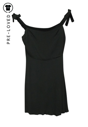 Reformation black Pre-Loved reformation Mini Black Dress with Faux Pearls on Shoulder Straps 7052CAA4ED7DBBGS_1