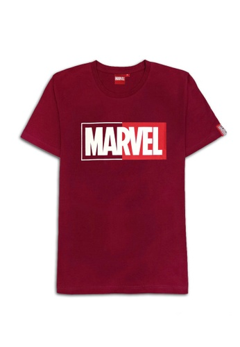 MARVEL red MARVEL Genuine Men PLUS SIZE Avengers T Shirt Maroon VIM20681PS B1D8CAADCF27B3GS_1