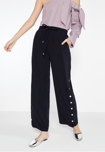 Pomelo navy Rika Side Snap Trousers - Navy CD8F5AA1575764GS_1