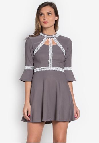 Get Laud grey Zinia Dress GE599AA0K5LAPH_1