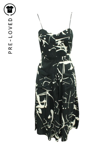 Reformation black Pre-Loved reformation Maxi Black and White Printed Dress F39AFAA9244649GS_1