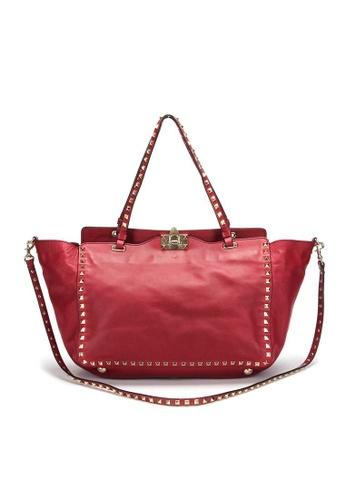 VALENTINO red Pre-Loved valentino Valentino Rock Studs 2way Tote Bag Medium DD508ACABEB69AGS_1