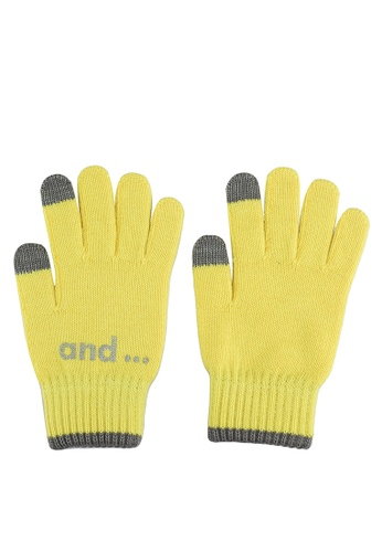 niko and ... yellow Casual Gloves 1A843AC4A5AB9DGS_1