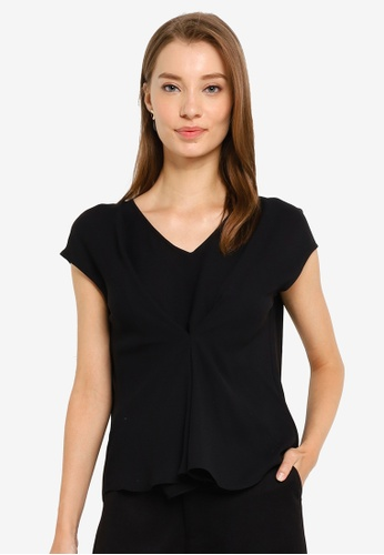 G2000 black Blouse With Front Folded Detail C62E4AAD6AD90AGS_1