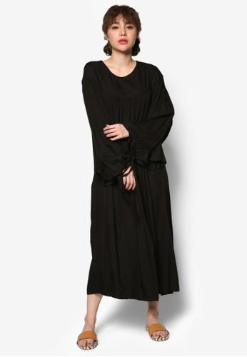 Ruffle Tie Sleesprit 台北eve Maxi Dress, 服飾, 洋裝