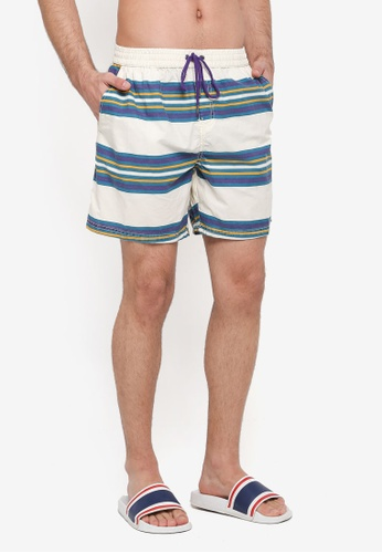 Cotton On white and blue Kahuna Shorts 53749AA3D86544GS_1