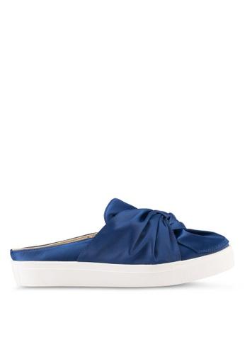 Something Borrowed blue Satin Knot Slip On 6832CSH7225C95GS_1