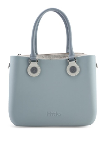 Hoola Hoola blue Alma Tote Classic - Smoke Blue with Slate & Snow handles 0D632ACB95D5A3GS_1