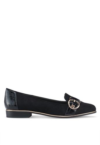 River Island 黑色 質感樂福鞋 115BDSH603CFCBGS_1