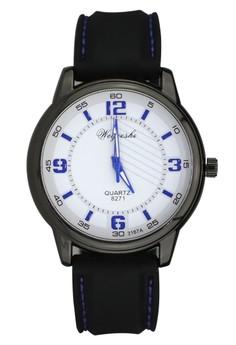 Weijieshi Classic Unisex Rubber Strap Watch 8271-3167A