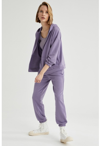 DeFacto purple Woman Knitted Cardigan 4AD42AA43198A5GS_1