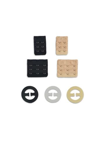 PINK N' PROPER beige Ultimate Bra Strap Clip & Bra Extender Hook Bundle Pack (7 Pack) 99628US97859CDGS_1