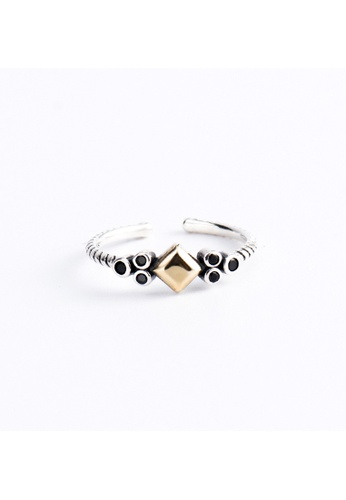 A-Excellence silver Premium S925 Sliver Geometric Ring 8B1EBACE961FB9GS_1