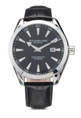 Stuhrling Original black Forte 3953L Watch 580FDAC46157C4GS_1