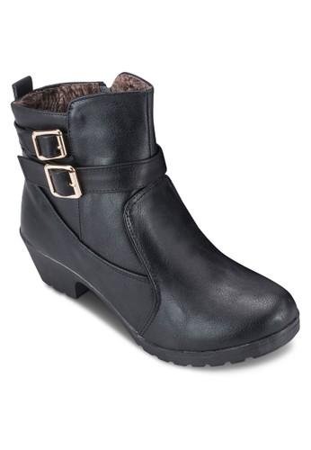 雙扣環帶粗跟esprit 工作短靴, 女鞋, 鞋