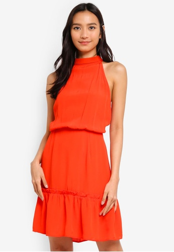 2943f00a9454c Buy River Island High Tie Neck Swing Dress Online on ZALORA Singapore