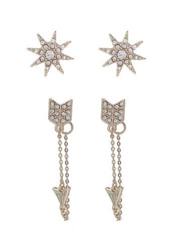 ALDO white and gold Galeriwien Earrings AL087AC0RPUFMY_1