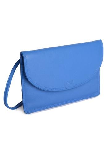 SADDLER blue SADDLER Womens Leather Cross Body Purse and Mag Snap Closure - Ladies Sling Bag - Blue 67E17AC02B7EDEGS_1